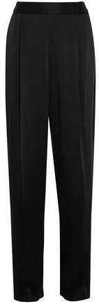 Stella McCartney Cicely Satin Wide-Leg Pants