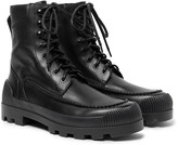 Acne Studios Tobias Rubber-Trimmed Leather Boots