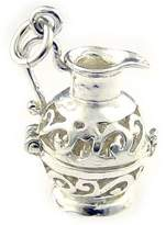 Welded Bliss Sterling 925 Silver Filigree Jug Ewer Charm Opening To Show Water Carrier. Aquarius. WBC1100