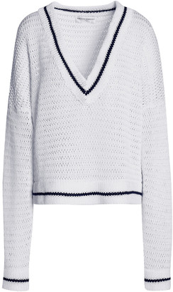Amanda Wakeley Scale Open-knit Cotton Sweater