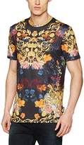 Jaded London Men's Baroque Floral Print T-Shirt