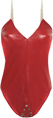 Rick Owens Stretch-leather Bodysuit