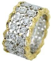 Buccellati 18K Yellow & White Gold Diamond Ring Band Size 6