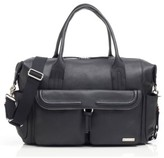Storksak Infant Storsak Leather Diaper Bag - Black