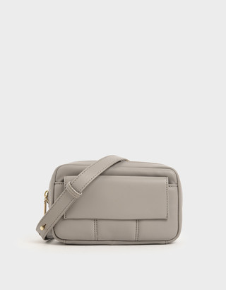 Charles & Keith Quilted Rectangular Belt Bag