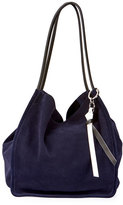 Proenza Schouler Extra-Large Suede Tote Bag, Blue