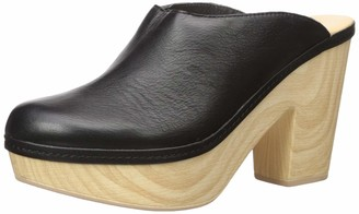 Chinese Laundry Women's Florina Clog Black Leather 10 M US