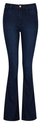 Dorothy Perkins Womens Rich Blue 'Kick Flare' Shape And Lift Jeans, Blue