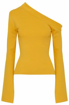 SOLACE London Mariette Asymmetric Stretch-knit Top