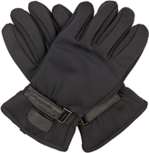 Fendi Leather-panelled gloves