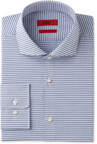 HUGO BOSS HUGO Men's Slim-Fit Navy Mini Check Dress Shirt