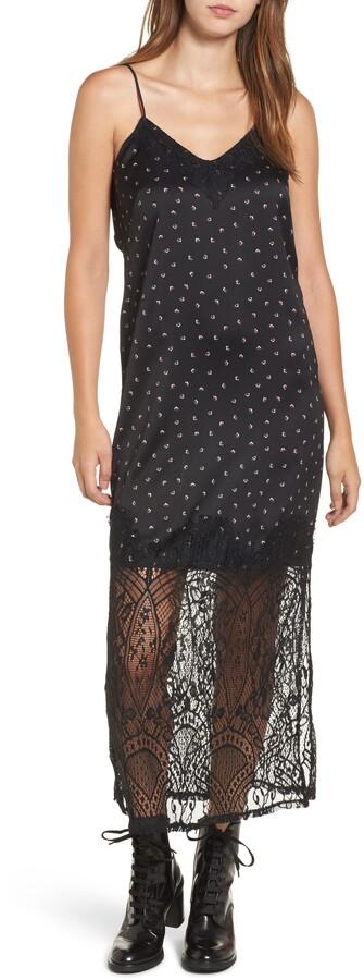 14th Place Lace Bottom Maxi Slip Dress