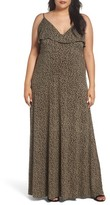 MICHAEL Michael Kors Plus Size Women's Finley Flounce Maxi Dress