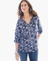 Chico's Textured Jacquard Top