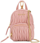 Miu Miu pleated micro backpack