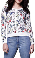 Yumi Floral Knitted Cardigan, Ivory