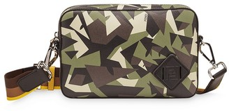 Fendi medium camouflage Bag Bugs print camera bag