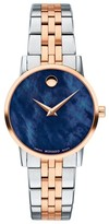 Movado Classic Rose Gold & Stainless Steel Bracelet Watch