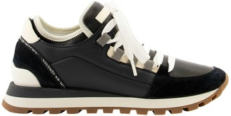 Brunello Cucinelli Suede, Nappa Leather And Softy Leather Sneakers With Precious Eyelets