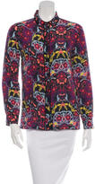 M Missoni Printed Silk Button-Up