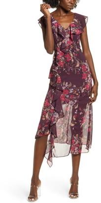 Leith Asymmetrical Ruffle Dress