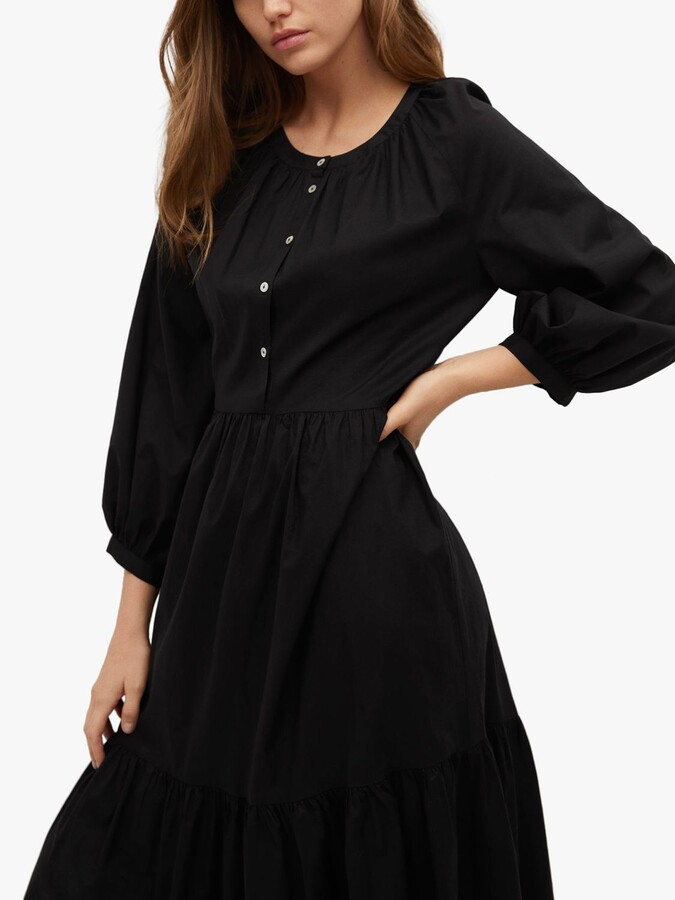 Thumbnail for your product : MANGO Frill Cotton Tiered Dress