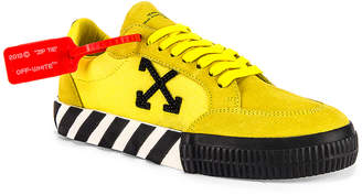 Off-White Off White Low Vulcanized Sneaker in Yellow & Black | FWRD