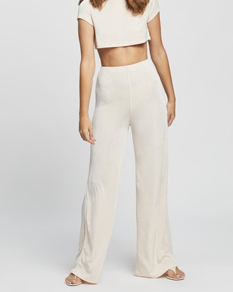 Missguided Petite - Women's Pink Joggers - Acetate Slinky Lounge Set - Size 4 at The Iconic