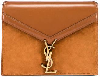 Saint Laurent Medium Cassandra Chain Monogramme Bag in Brick & Dark Ebony | FWRD