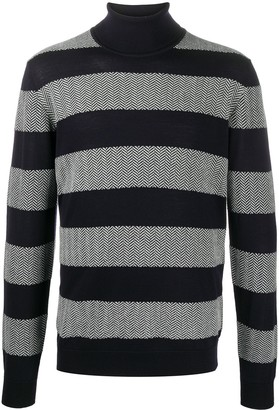 Giorgio Armani Striped Roll Neck Jumper