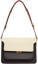 Marni White and Brown Medium Trunk Bag