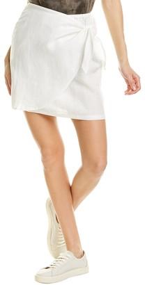 Three Dots Linen Tie Skirt