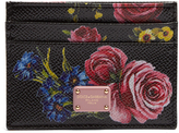 Dolce & Gabbana Floral-print leather cardholder