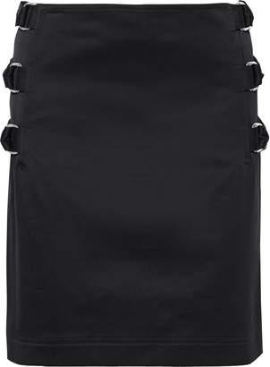 Helmut Lang Layered Buckled Cotton-twill Mini Skirt