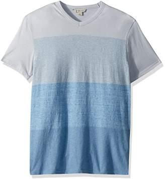 Calvin Klein Jeans Men's Short Sleeve T-Shirt V-Neck Heather Color Block