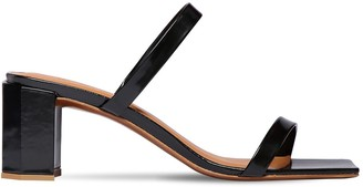 BY FAR 60mm Tanya Brushed Leather Sandals