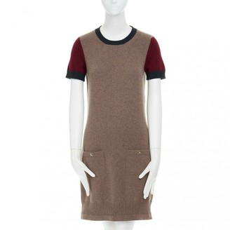 Chanel Brown Cashmere Dresses