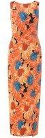 Dorothy Perkins Womens Orange Floral Print Maxi Dress- Orange