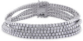 Ice Julie Leah 12 3/5 CT TW Diamond 18K Polished White Gold Multi-Strand Bracelet