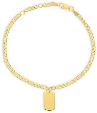 Saks Fifth Avenue 14K Yellow Gold Dog Tag Chain Bracelet