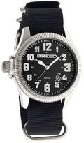 Breed Angelo Black Dial Black NATO Nylon Strap Analog Men's Watch 6202