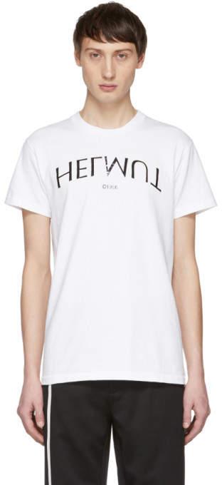Helmut Lang White Logo Hack Little T-Shirt