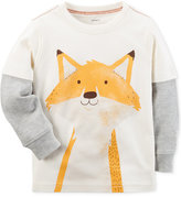 Carter's Fox Graphic-Print Cotton Shirt, Toddler Boys (2T-4T)