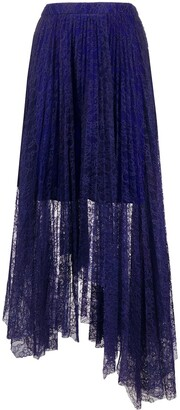 MSGM Floral Lace Overlay Skirt