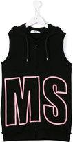 MSGM logo sleeveless hoodie - kids - Cotton - 4 yrs