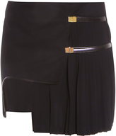 Anthony Vaccarello Asymmetric Side Plisse Skirt