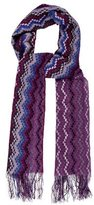 Missoni Metallic-Accented Striped Scarf