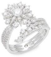 Nadri Floral Crystal Ring