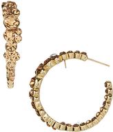 Love Rocks Champagne Crystal Cluster Hoop Earrings