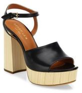Derek Lam Birgitta Leather Ankle-Strap Platform Sandals